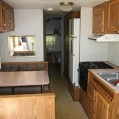 Inside of RV Trailer - Kitchen